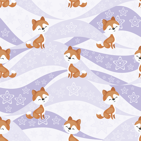 Seamless pattern with the image of husky dogs. Vector background Çizim