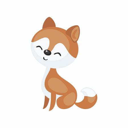 Cute cartoon husky dog vector illustration. Illustration