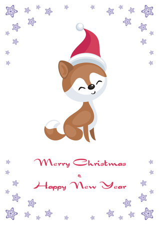 Holiday greeting card with dog.