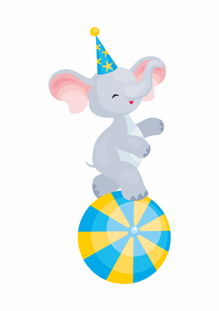 A Vector image of a trained circus animal in a cartoon style. Colorful illustrations isolated  sc 1 st  123RF.com & Elephant In Colourful Costume Stock Photos. Royalty Free Elephant In ...