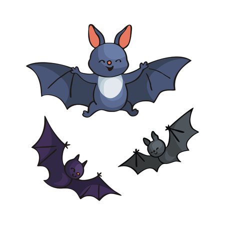 Cute bat. Vector illustration in cartoon style isolated on white background. Illustration