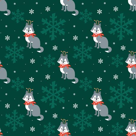 Colorful seamless pattern with cute dog in Christmas costume. Vector background. Standard-Bild - 135721392