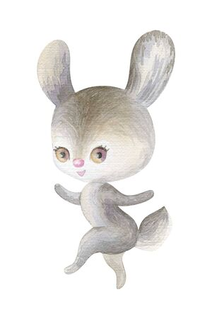 Cute woodland animal. Hand painted watercolor illustration isolated on a white background. Standard-Bild - 140433162