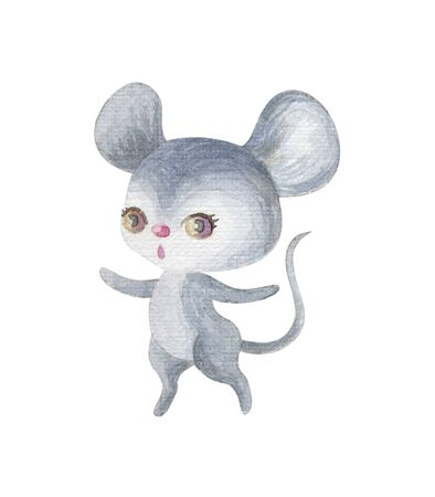 Cute woodland animal. Hand painted watercolor illustration isolated on a white background. Standard-Bild - 140432620