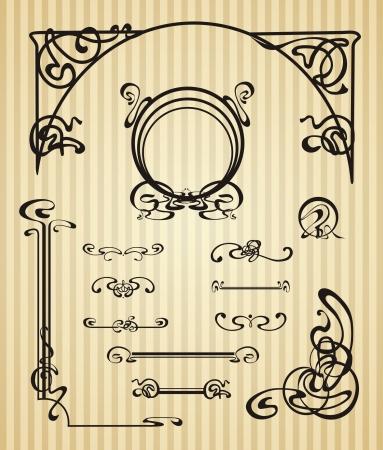 fretwork: Art�culos de decoraci�n y alcance en estilo moderno Vectores