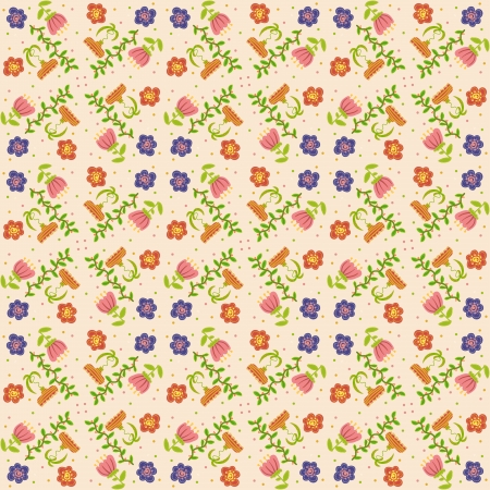 Vector floral background, pattern Stock Vector - 22895565