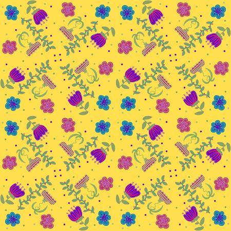 oldened:   Vector floral background, pattern Illustration
