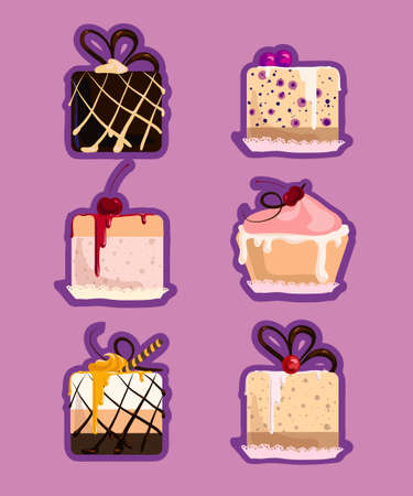 set pattern cakes Stock Photo - 23022840