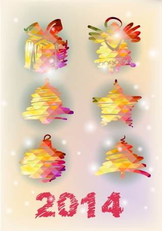 Set of Christmas decorative illustration illustration