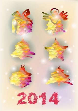 Set of Christmas decorative illustration Stock Illustration - 23022848