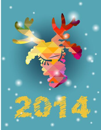 Christmas deer and New Year hand-painted decoration photo