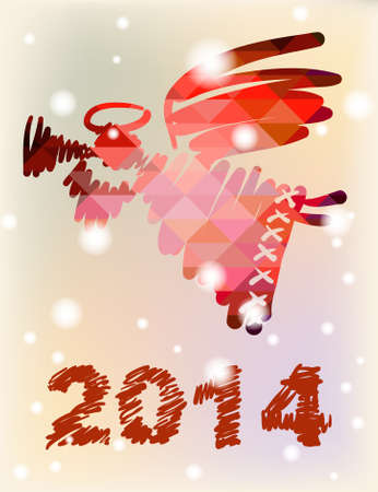 Christmas angel and New Year hand-painted decoration photo