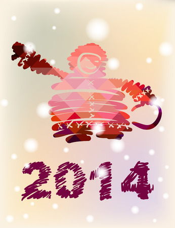 Chukchi Vector Christmas and New Year hand-painted decoration photo