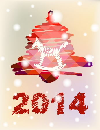 Christmas and New Year hand-painted decoration with bell with horse Stock Photo - 23010052