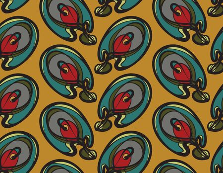 jugendstil: pattern of abstract elements in modern style