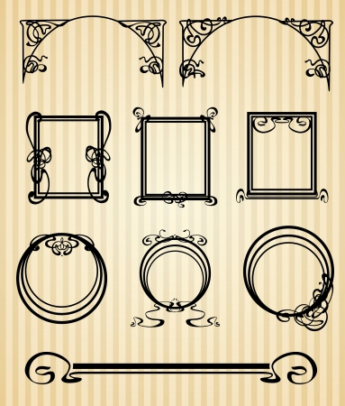 Decorative items and scope in modern style Stock Photo - 23061280