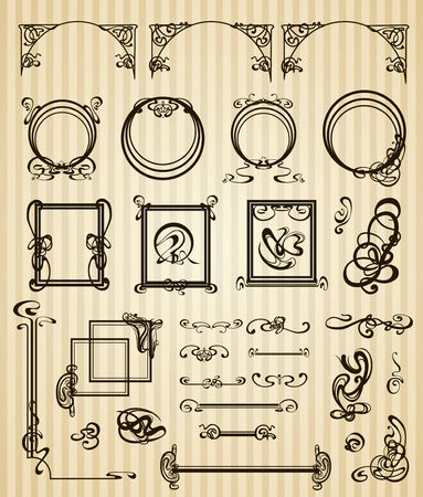 Decorative items and scope in modern style Stock Photo - 23061281