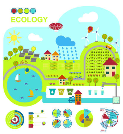 illustration of ecologically friendly production methods Stock Photo