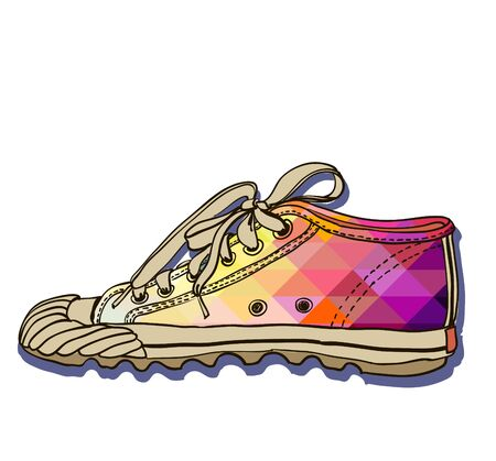 colored pattern gym shoes photo