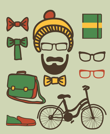 set of hipster Stock Photo - 23047269