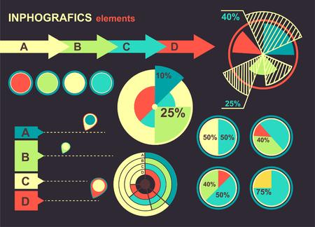 set of infographics element photo
