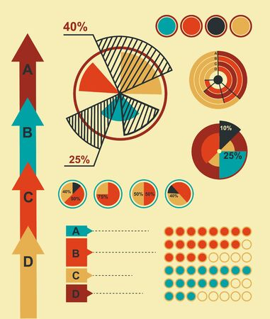 set of infographics element
