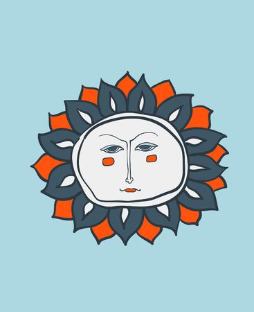 Sun face photo