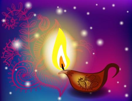 an oil lamp: día de fiesta de las lámparas de aceite Diwali