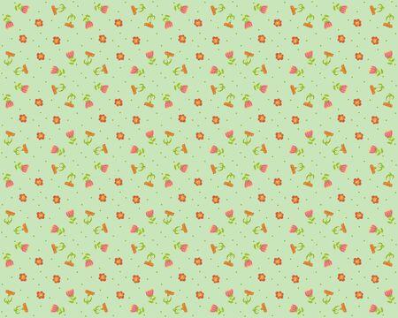 oldened: Vector floral background, pattern