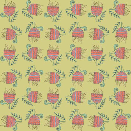 Vector floral background, pattern Vector