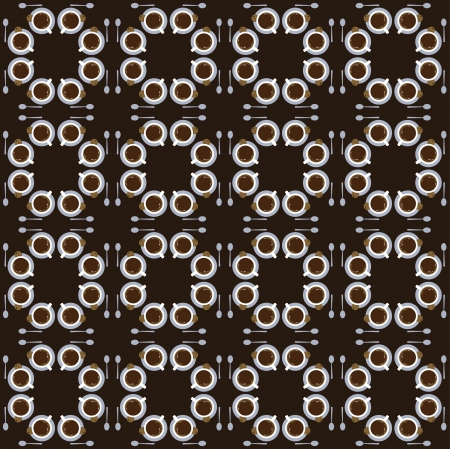 vivacity: Seamless pattern with cups of coffee