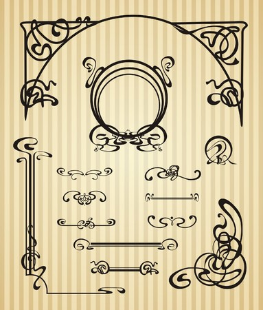 Decorative items and scope in modern style Stock Vector - 24148297