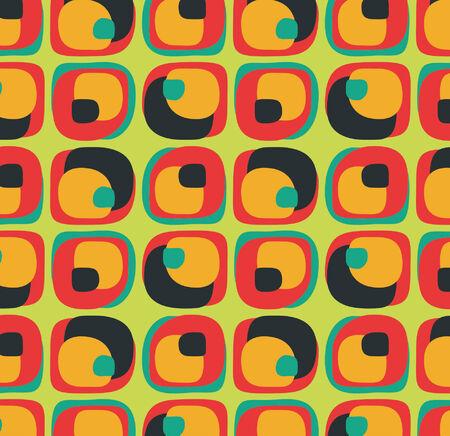 oldened:  Vector pattern of geometric shapes Illustration