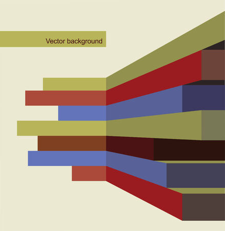 Vector background of geometric lines stripes perspective Vector