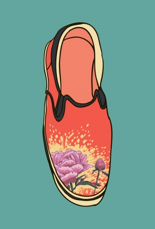 moccasins: Vector colored pattern moccasins shoes