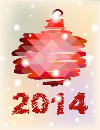 Ball Vector Christmas and New Year hand-painted decoration  Illustration