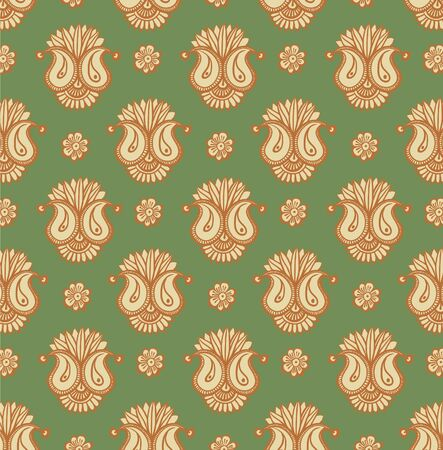 Vector floral design henna decoration, pattern, wallpaper  Vector