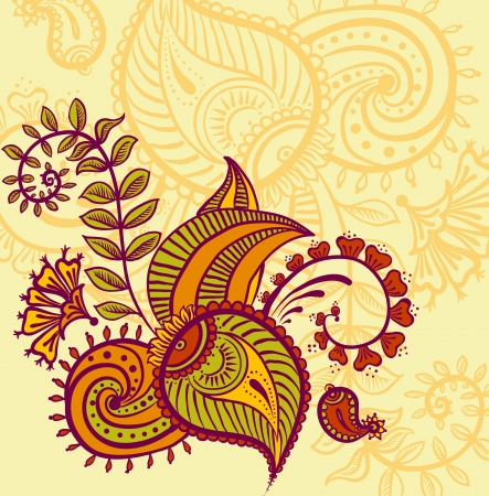 Vector floral design Illustration