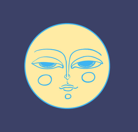 Moon face Illustration