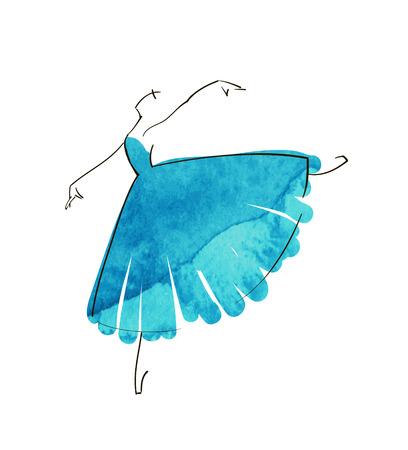 ベクトル手図バレリーナ