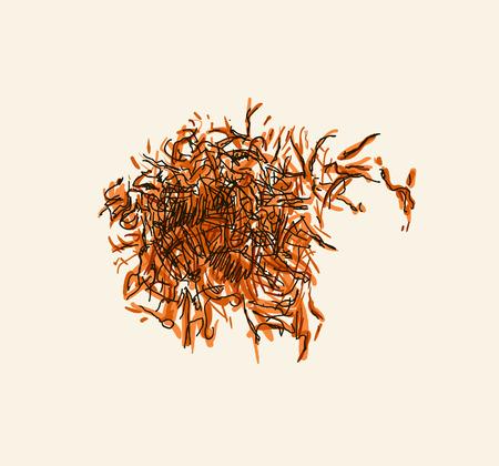 pistil: Saffron pistil