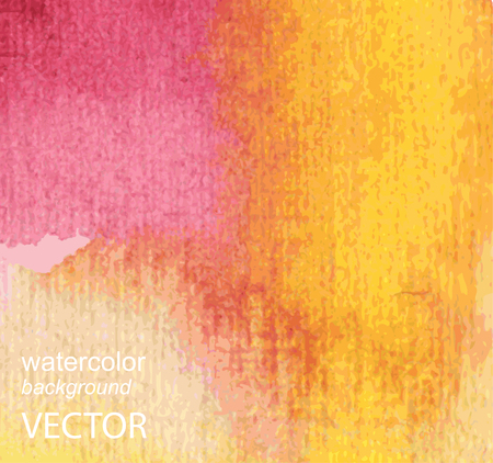Abstract watercolor hand painted background in red colors Vector