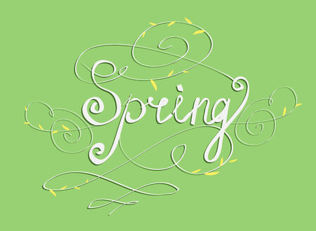 SPRING SEASON'S GREETINGS hand lettering Vector