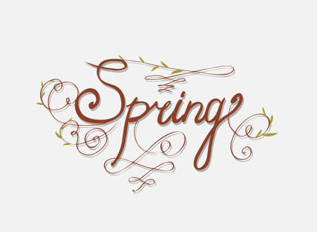 seasons greetings: SEASONS GREETINGS hand lettering - handmade calligraphy Illustration