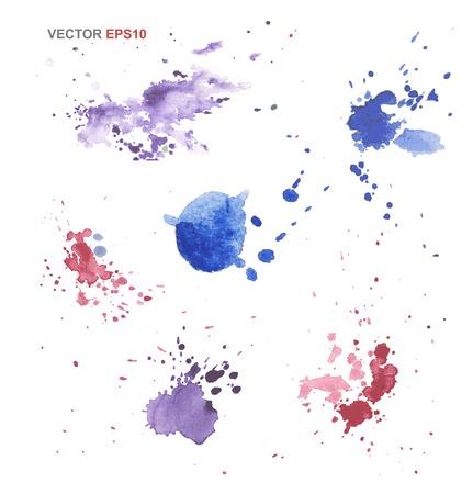抽象的なベクトル水彩テクスチャを手描きの背景  イラスト・ベクター素材