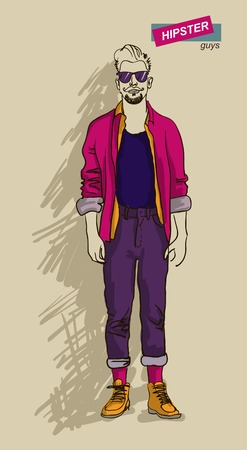 man in fashion clothes isolated on light background vector illustration eps 10