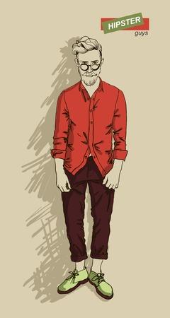 明るい背景ベクトル イラスト eps 10 に分離のファッションの服の男