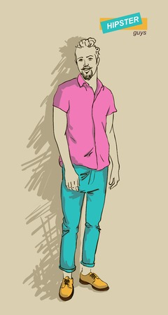 man in fashion clothes isolated on light background vector illustration eps 10 Vector