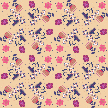 oldened: Vector illustration floral vintage background, pattern Illustration