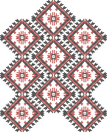 vector background of Ukrainian national ornaments Vector
